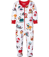 Hatley Kids - Holiday Cats Footed Coverall (Infant)