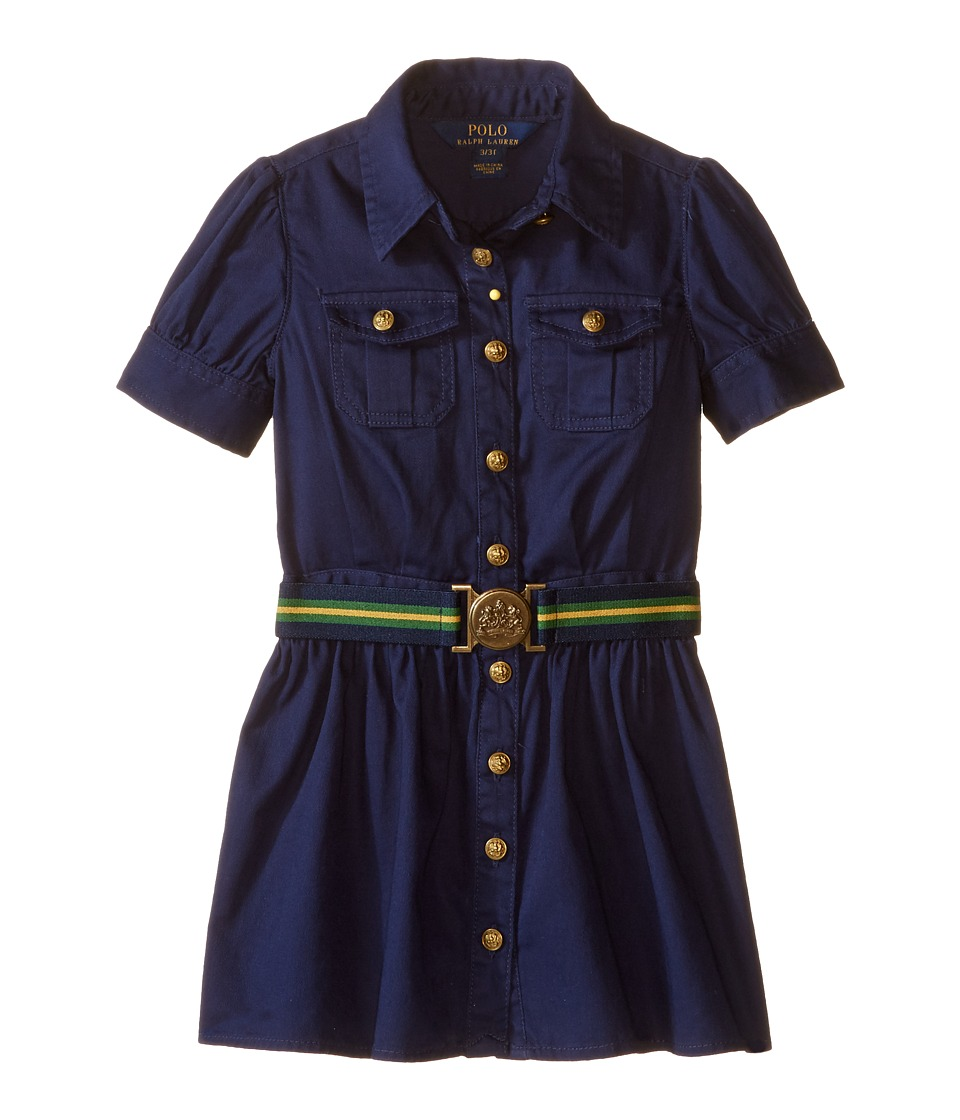 Ralph Lauren Tissue Chino Shirtdress (Toddler) (Newport N...
