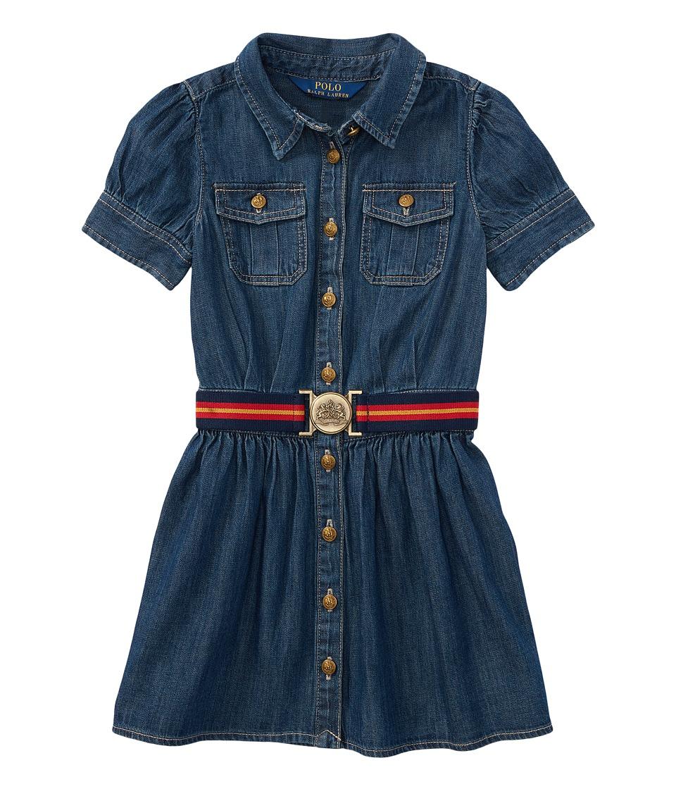 Polo Ralph Lauren Kids - Denim Shirtdress (Toddler) (Quincy Wash) Girls Dress