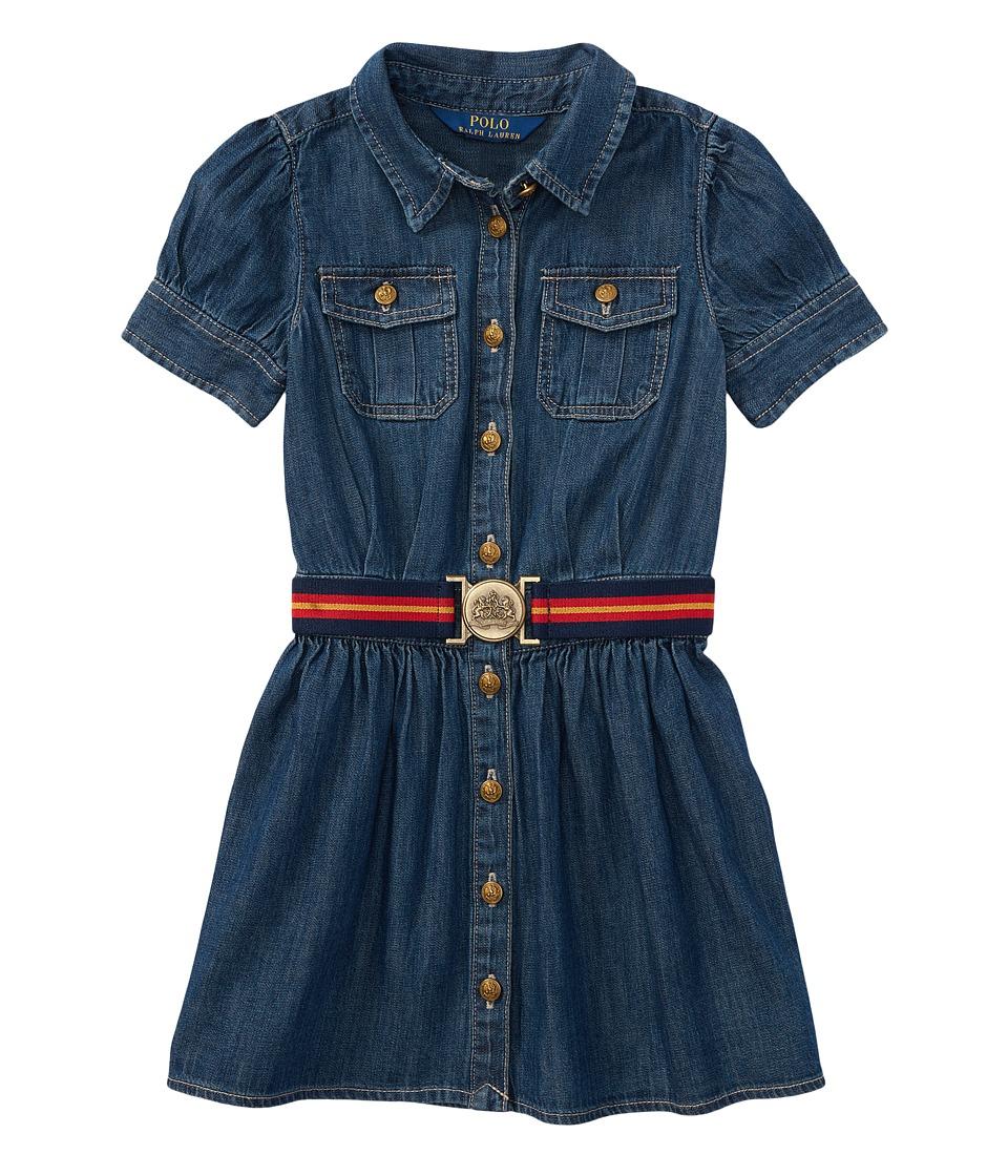 Polo Ralph Lauren Kids - Denim Shirtdress (Little Kids) (Quincy Wash) Girls Dress
