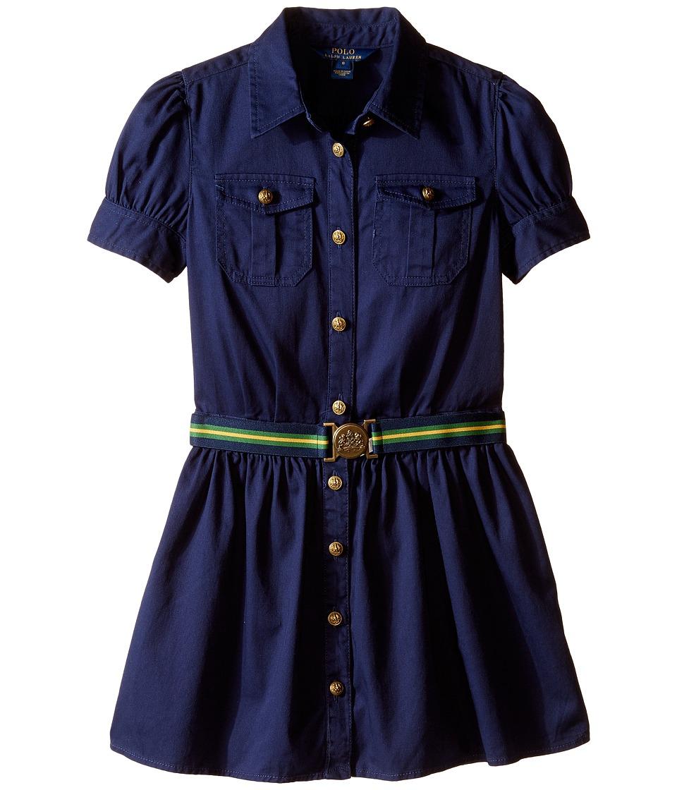 Polo Ralph Lauren Kids - Tissue Chino Shirtdress (Big Kids) (Newport Navy) Girls Dress