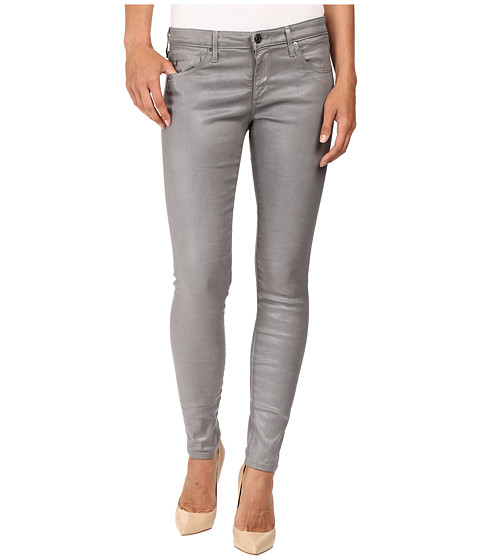 AG Adriano Goldschmied Leggings Ankle in Leatherette Light Cloud Grey