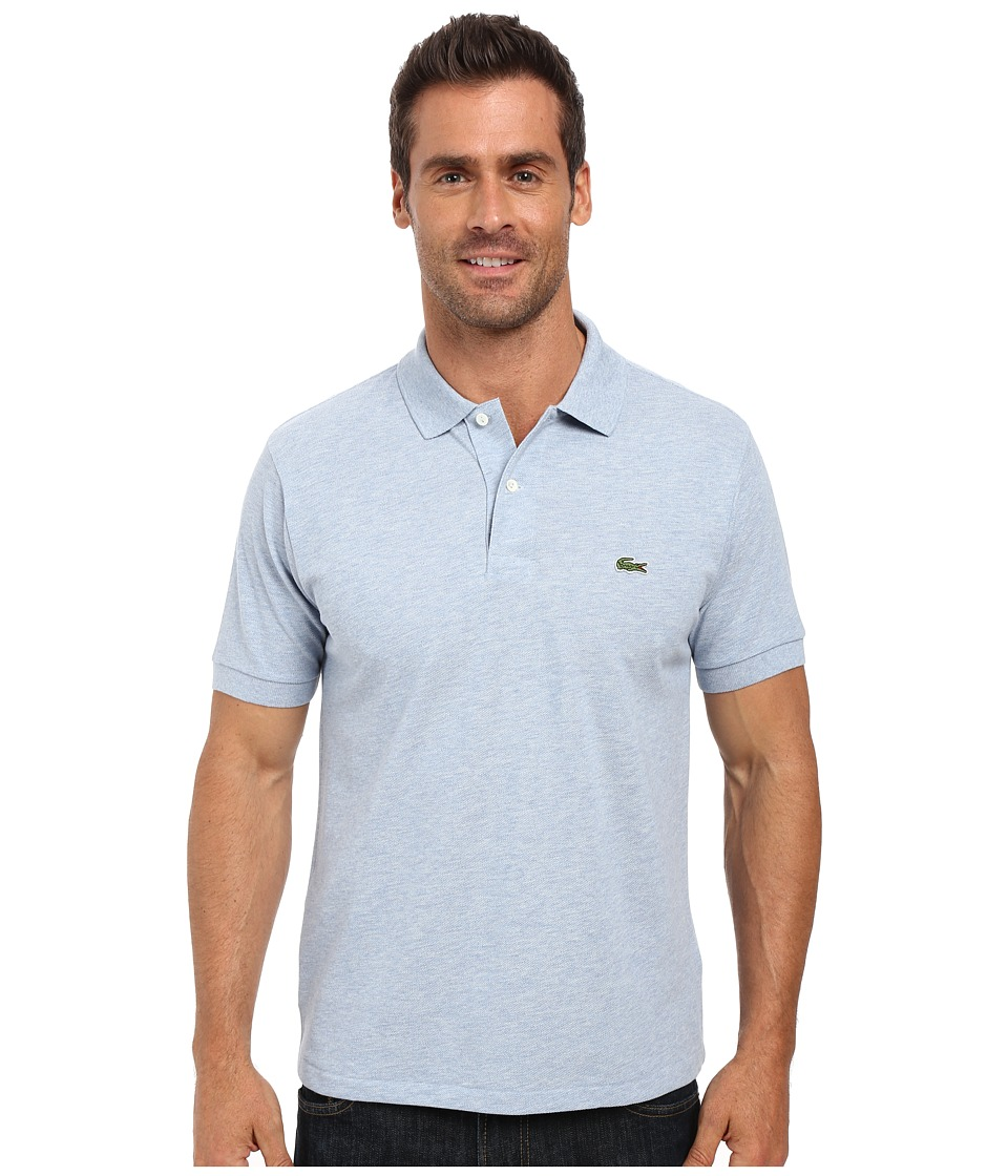 Lacoste - Short Sleeve Original Heathered Pique Polo (Celestial Chine) Men