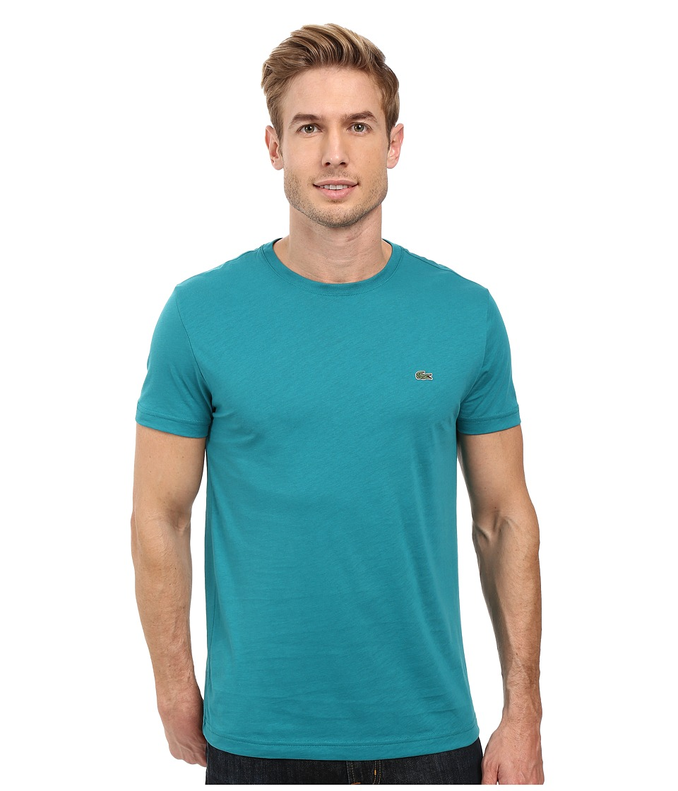 Lacoste - Short-Sleeve Pima Jersey Crewneck T-Shirt (Emerald) Men
