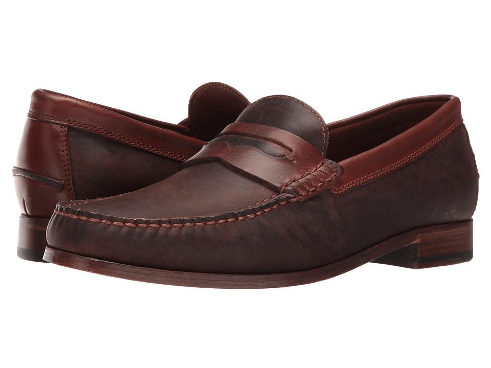TRASK Sadler (Brown Oiled Steer) Men's Slip on  Shoes