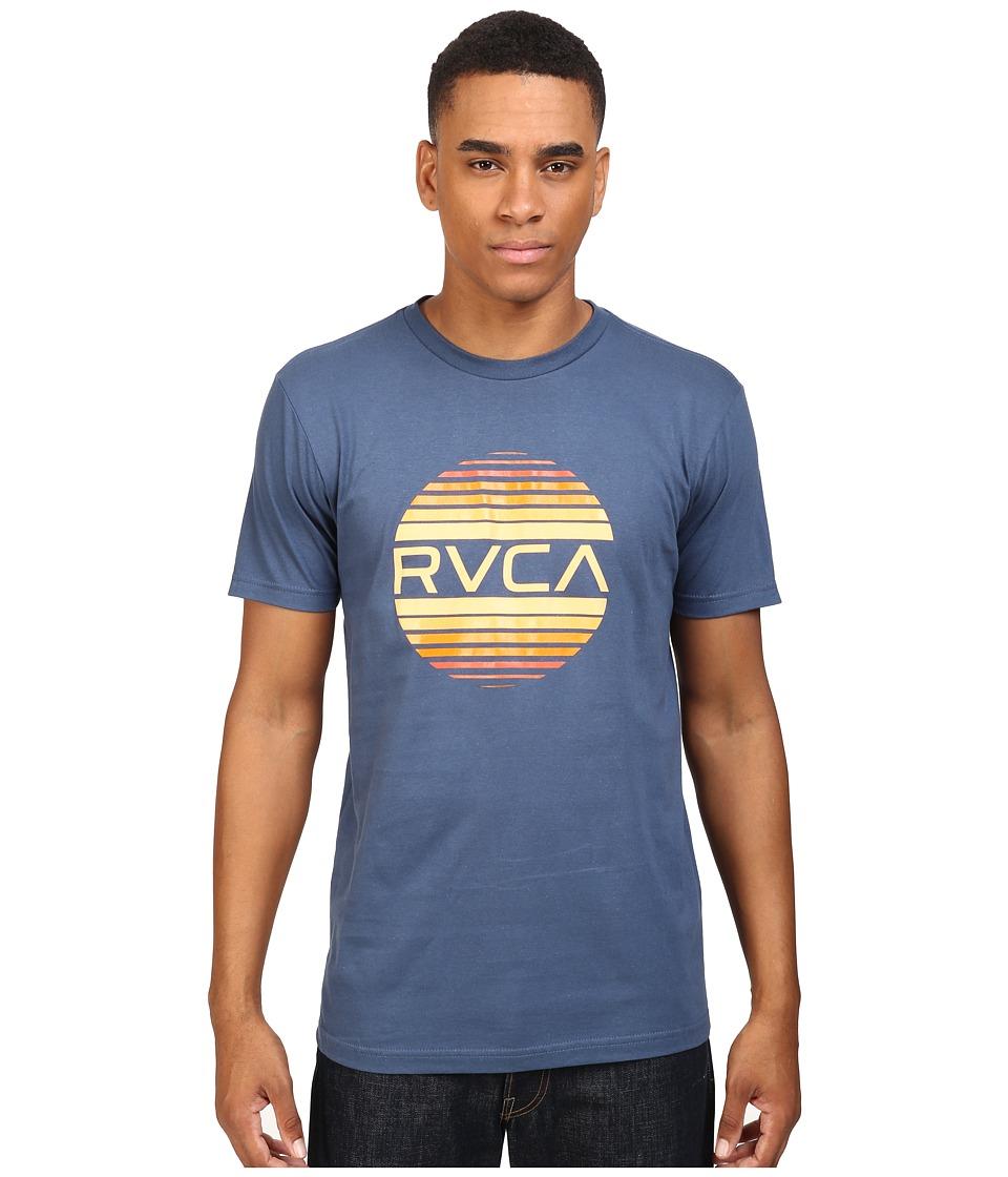 RVCA Sanborn Gradient Tee (Dark Denim) Men
