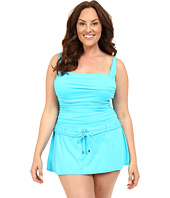 Bleu Rod Beattie - Plus Size Gilt Trip Skirting Floating One-Piece