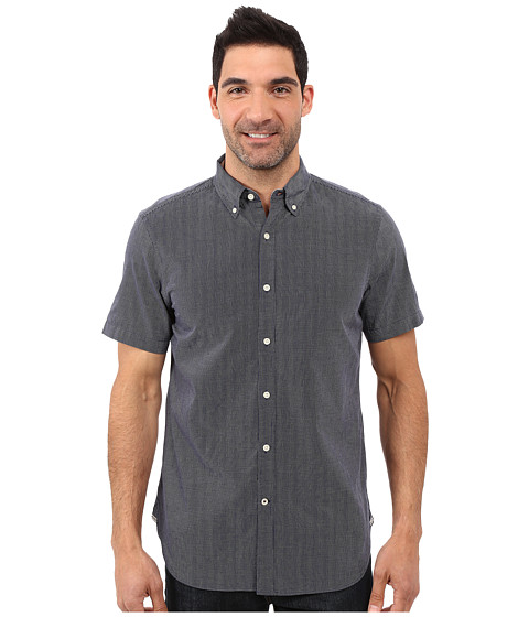 Nautica Short Sleeve Striped Dobby Shirt w/ Pocket
