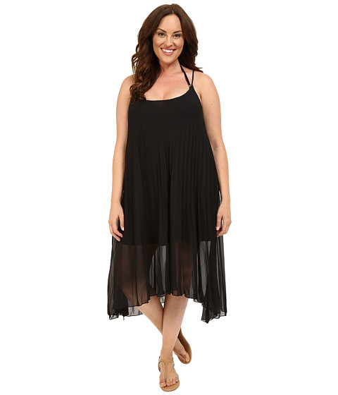 Bleu Rod Beattie Plus Size Over the Edge A-Line Pleated Dress Cover-Up