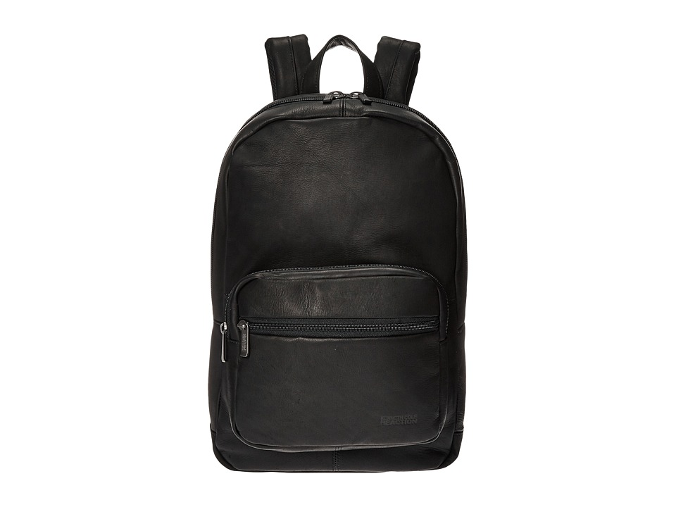 Kenneth Cole Reaction - Ahead of the Pack - Leather Backpack (Black) Backpack Bags