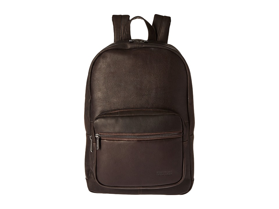 Kenneth Cole Reaction - Ahead of the Pack - Leather Backpack (Brown) Backpack Bags