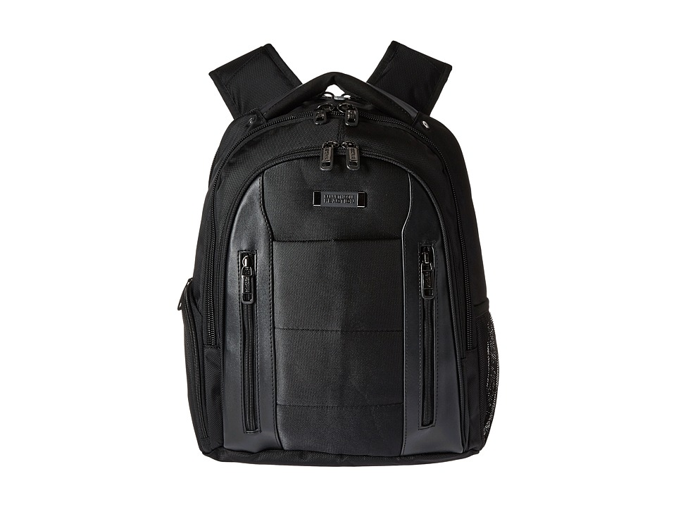 Kenneth Cole Reaction - An Easy Pace - EZ Scan Polyester Backpack (Black) Backpack Bags