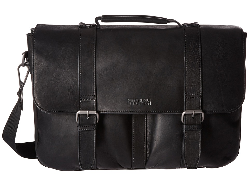 Kenneth Cole Reaction - Flap Shot - Leather Portfolio (Bl...
