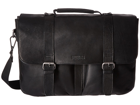 Kenneth Cole Reaction Flap Shot - Leather Portfolio - Black