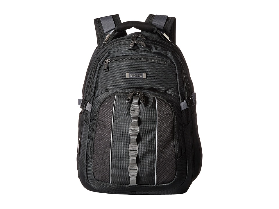 Kenneth Cole Reaction - Pack Down - Polyester Backpack (Black) Backpack Bags