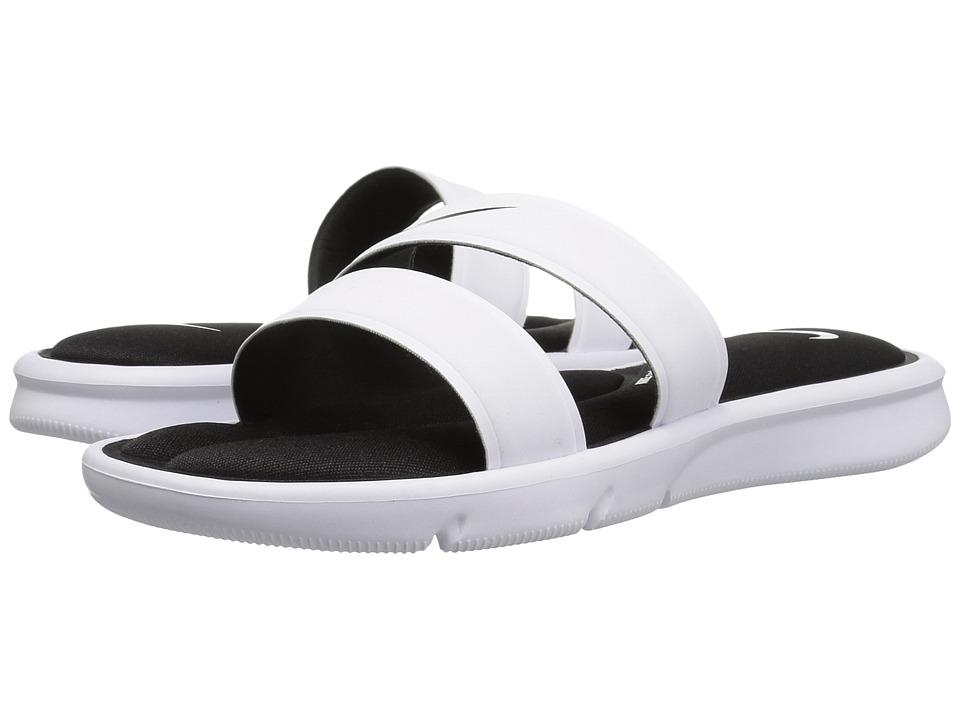 Nike - Ultra Comfort Slide (White/White/Black) Women's Sandals