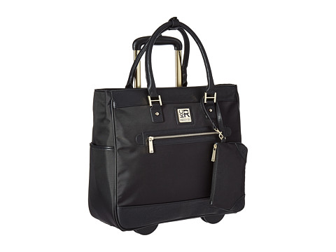 Kenneth Cole Reaction Call It Off - Nylon Wheeled Tote - Black