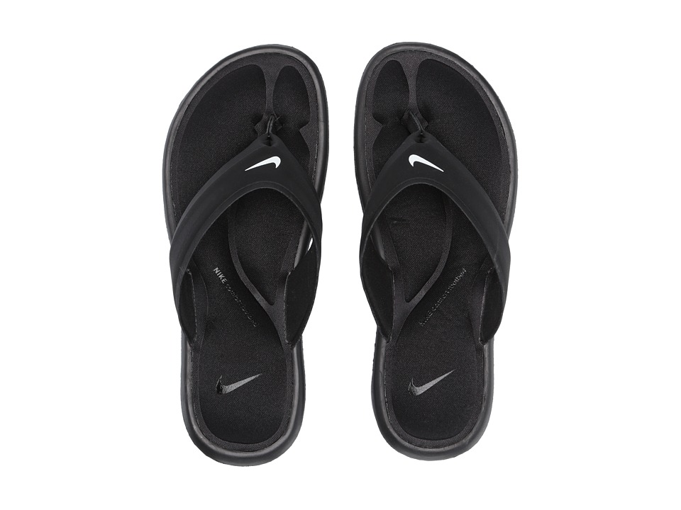 Nike Ultra Comfort Thong (Black/Black/White) Women's Sandals