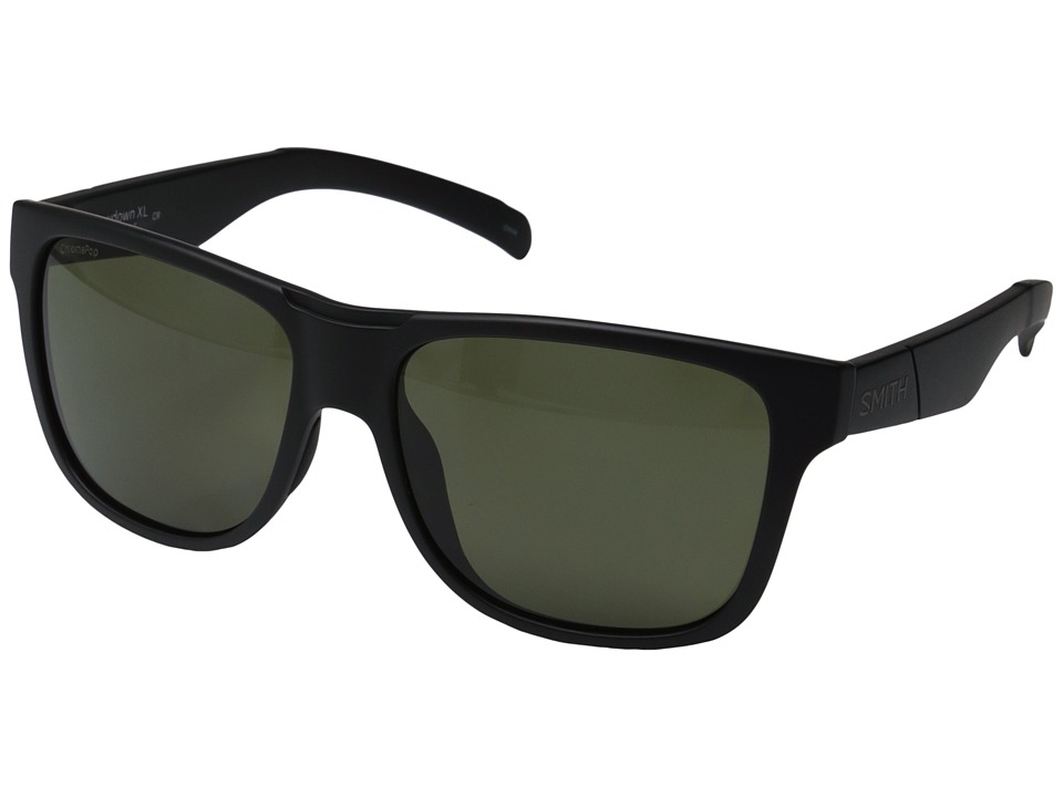 Smith Optics - Lowdown XL (Matte Black/Polarized Gray/Green) Fashion Sunglasses