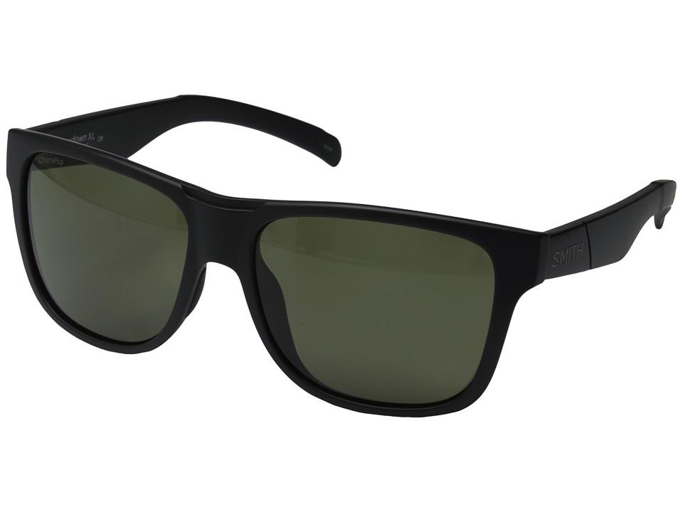 Smith Optics Lowdown XL Matte Black/Polarized Gray/Green Fashion Sunglasses