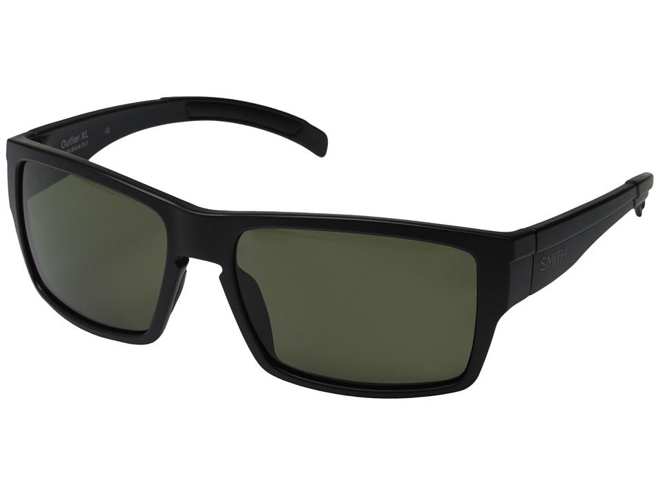 Smith Optics Outlier XL Matte Black/Polarized Gray/Green Fashion Sunglasses