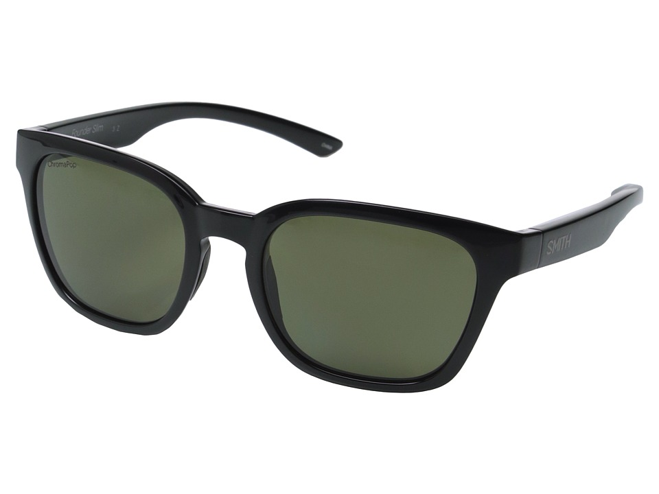 Smith Optics Founder Slim (Black/Polarized Gray/Green) Fa...