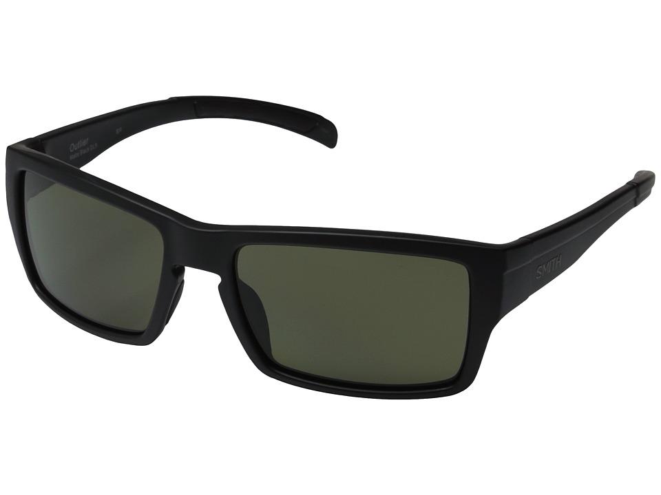 Smith Optics Outlier Polarized Matte Black/Polarized Gray/Green Polarized Sport Sunglasses