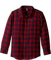 Volcom Kids - Fulton Flannel Long Sleeve Shirt (Toddler/Little Kids)