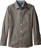 Volcom Kids - Everett Oxford Long Sleeve Shirt (Big Kids)
