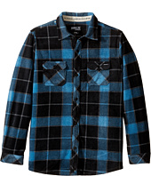 O'Neill Kids - Glacier Big Plaid Long Sleeve Shirt (Big Kids)