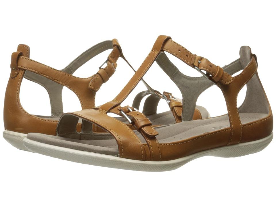 ECCO Flash T-Strap Sandal II (Lion) Women