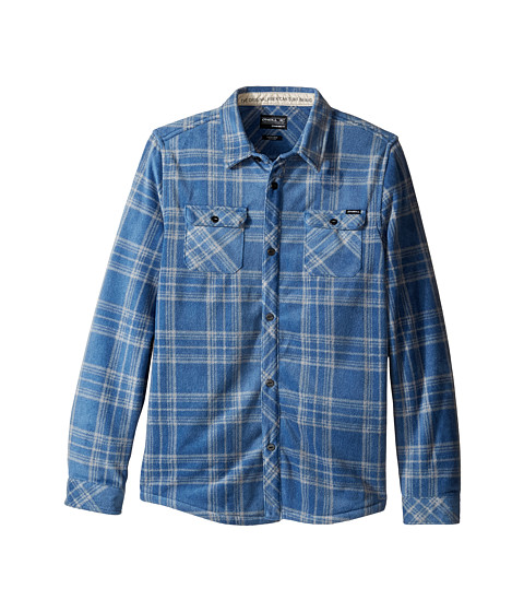 O'Neill Kids Glacier Plaid Long Sleeve Shirt (Big Kids ...