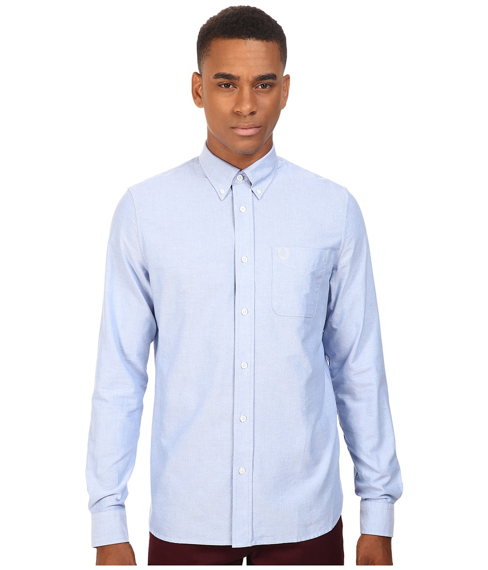Fred Perry - Classic Oxford Shirt (Light Smoke Oxford) Men's Long Sleeve Button Up