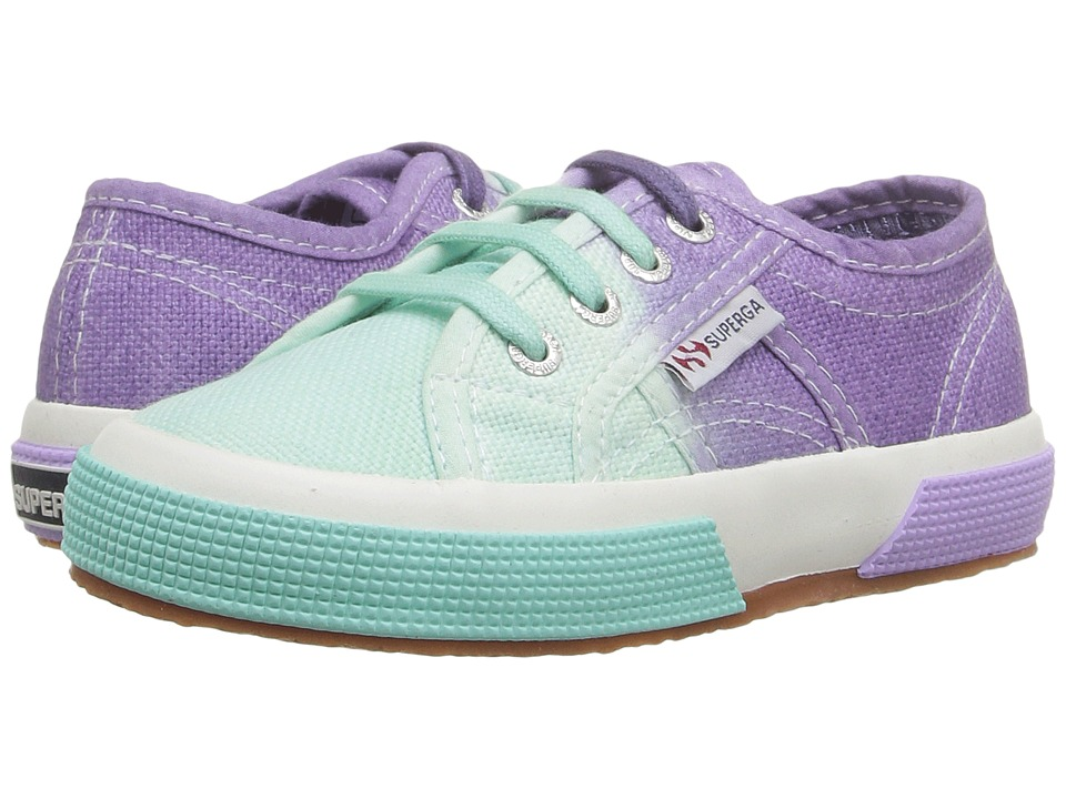 Superga Kids - 2750 COTJ Shade (Infant/Toddler/Little Kid/Big Kid)) (Teal/Violet) Girls Shoes
