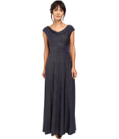 Tahari by ASL - Glitter Jersey Cowl Neck Gown