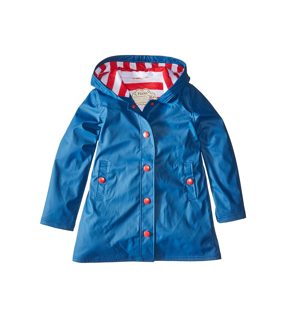 Hatley Kids - Splash Jacket (Toddler/Little Kids/Big Kids) (Blue) Girls Coat