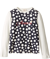 Armani Junior - Polka Dot Logo Tee (Toddler/Little Kids/Big Kids)