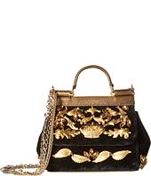 Dolce & Gabbana - Embellished Velvet Mini Sicily Bag