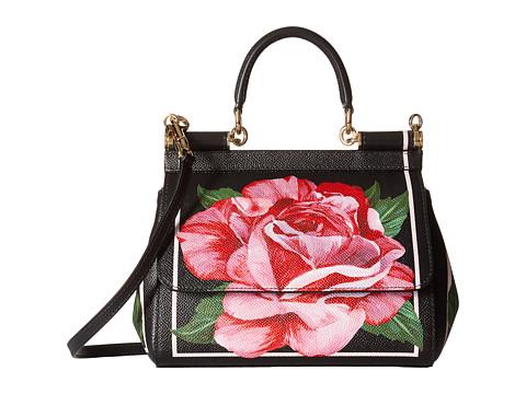 Dolce & Gabbana Floral Printed Small Sicily Bag