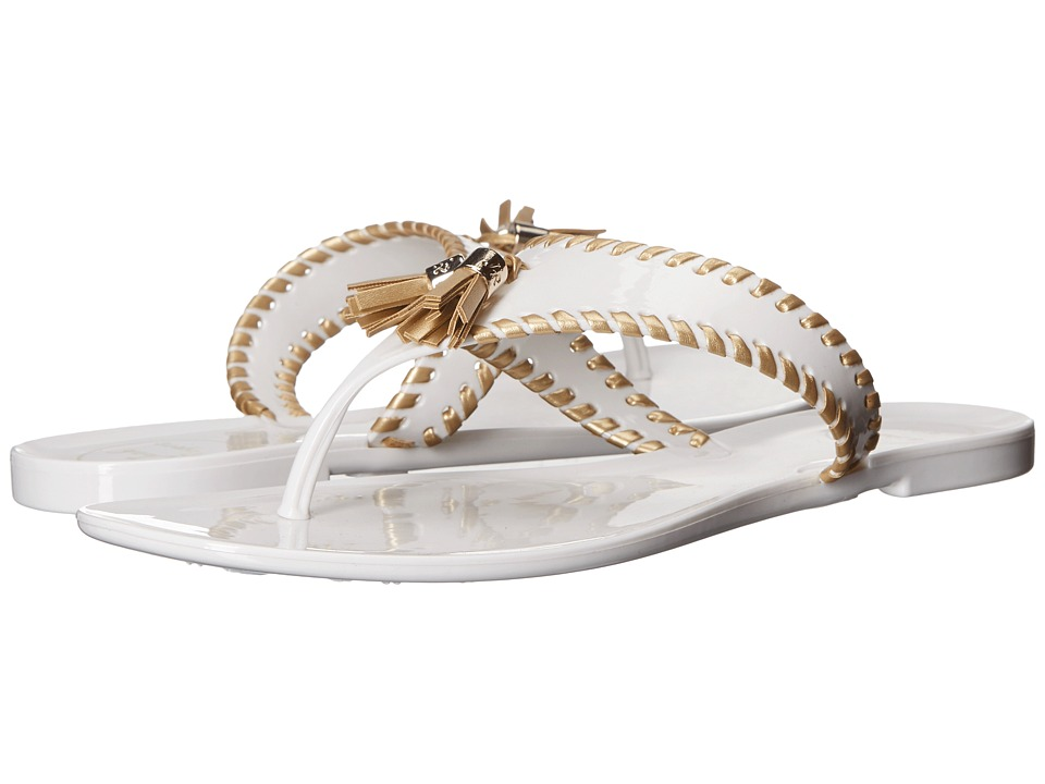 Jack Rogers Alana Jelly (White/Gold) Women