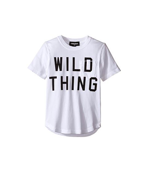 Dsquared2 Kids Short Sleeve 'Wild Thing' Pocket Tee (Little Kids/Big Kids)