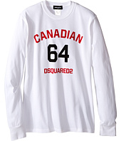 Dsquared2 Kids - Long Sleeve Canadian Tee (Big Kids)