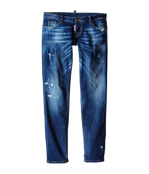 Dsquared2 Kids Distressed Skinny Jeans (Big Kids)