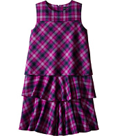 Oscar de la Renta Childrenswear - Plaid Wool A-Line Layered Dress (Toddler/Little Kids/Big Kids)