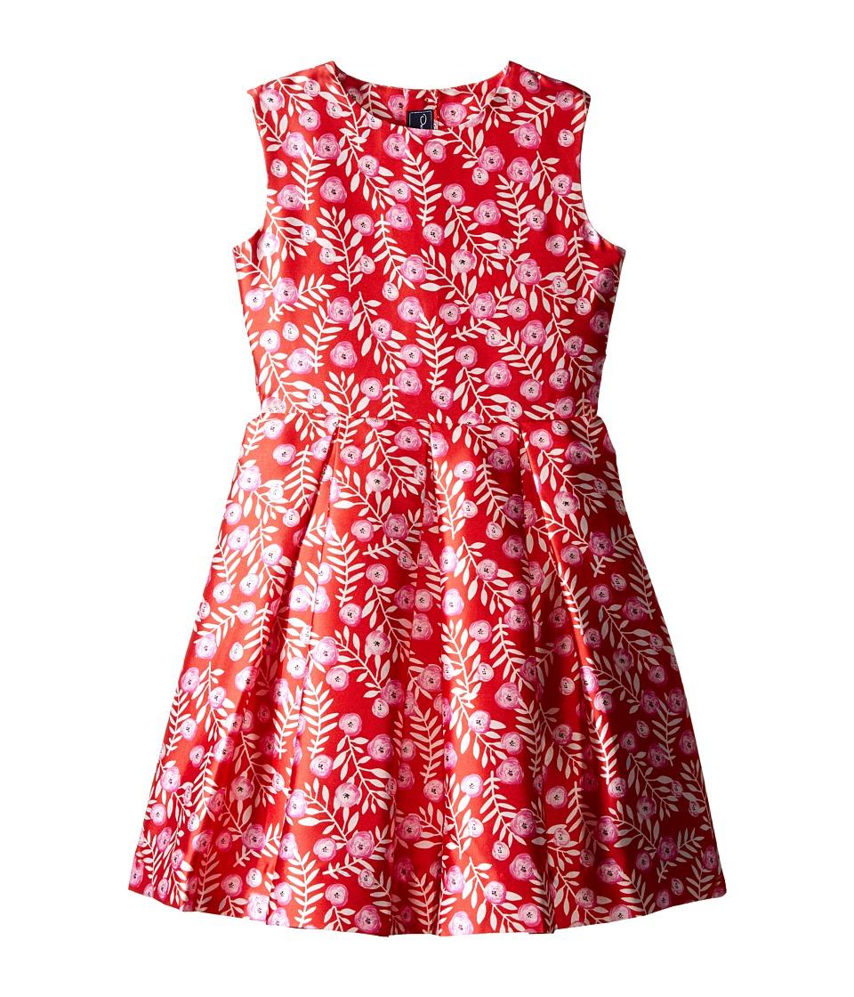 Oscar de la Renta Childrenswear Petite Roses Mikado Party Dress (Toddler/Little Kids/Big Kids) (Ruby/Fuchsia) Girl