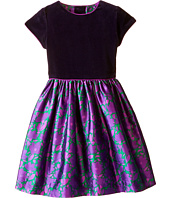 Oscar de la Renta Childrenswear - Brushstroke Fleur Mikado Dress (Toddler/Little Kids/Big Kids)