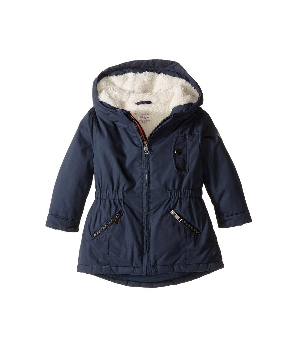 Paul Smith Junior Hooded Winter Jacket (Toddler/Little Kids) (Petrol Blue) Boy