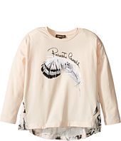 Roberto Cavalli Kids - Long Sleeve Graphic Shirt w/ Feather Print on Back (Toddler/Little Kids)