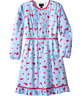 Oscar de la Renta Childrenswear - Watercolor Fleur Cotton Tunic Dress (Toddler/Little Kids/Big Kids)