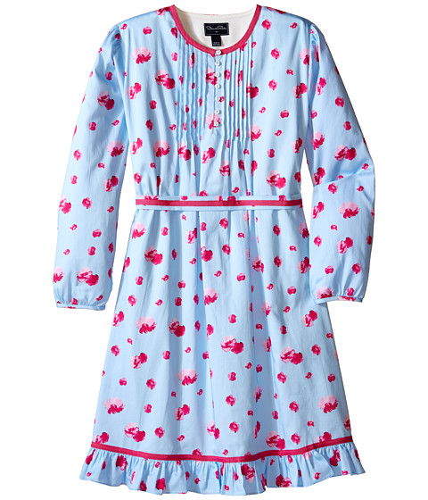 Oscar de la Renta Childrenswear Watercolor Fleur Cotton Tunic Dress (Toddler/Little Kids/Big Kids)